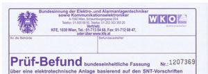 Foto Elektro Uferer Prüfbericht